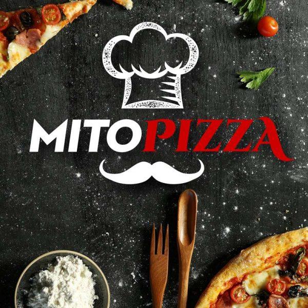 Mitopizza Brand Logo Mockup