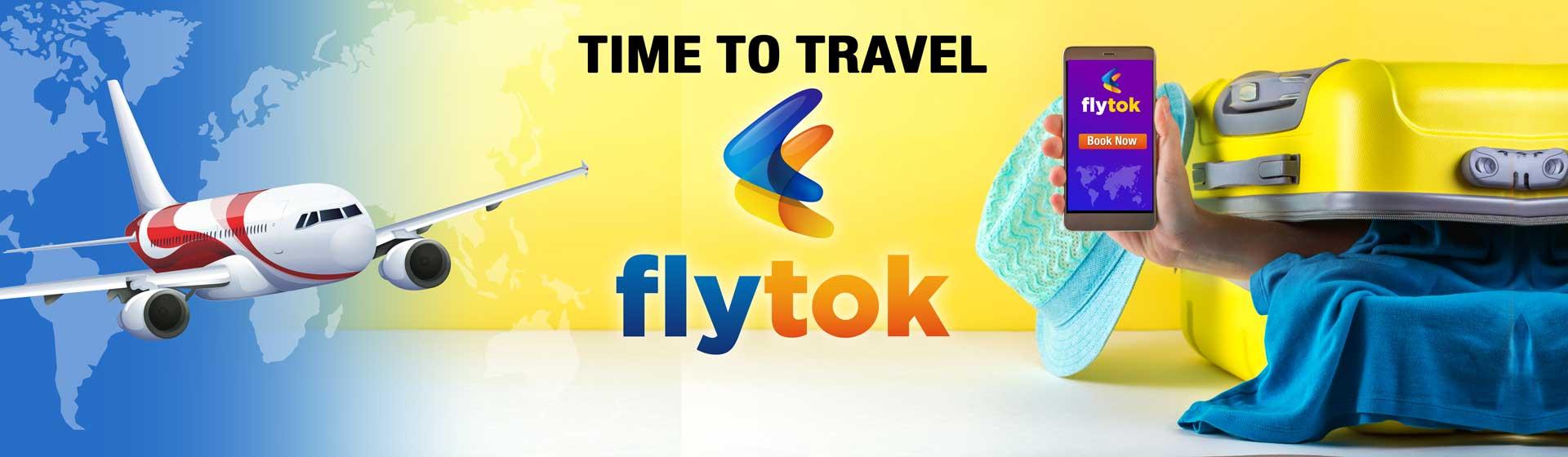 Flytok brand Logo Design